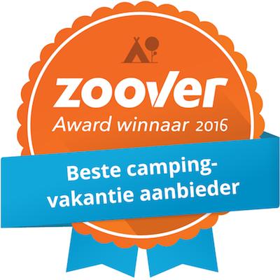 Glamping4all Zoover Award gewonnen voor Beste Campingvakantie aanbieder