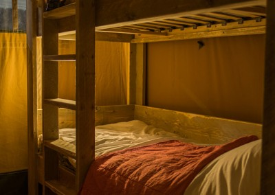 Safaritent Slaapkamer met Stapelbed