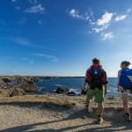 Wandelen langs de kust van eiland Belle Ile en Mer