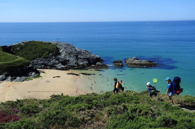 Wandelen op het eiland Belle Ile en Mer