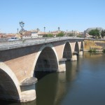 Brug bij Bergerac Frankrijk