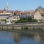 Kade bij Bergerac Frankrijk