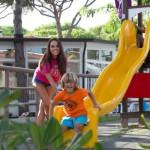De speeltuin op camping Malibu Beach