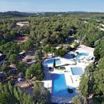 Camping Le Plein Air in Frankrijk bij Montpellier een overzicht van zwembaden