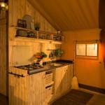 Safaritent 6 personen Keuken van Glamping4all