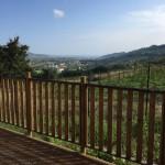 Uitzicht vanaf je terras van je safaritent op Villa La Diva