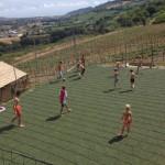 Een partijtje voetbal op Villa La Diva