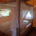 Safaritent Slaapkamer met hemelbed
