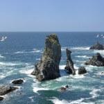 De ruige kust van Bretagne in Frankrijk