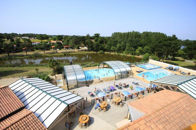 Camping La Bretonnière overzicht zwembaden