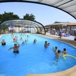 Campingplatz La Bretonnière Möglichkeit des bedeckten Schwimmbades
