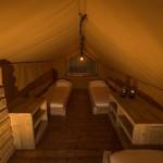 Bovenverdieping Safaritent 8 personen
