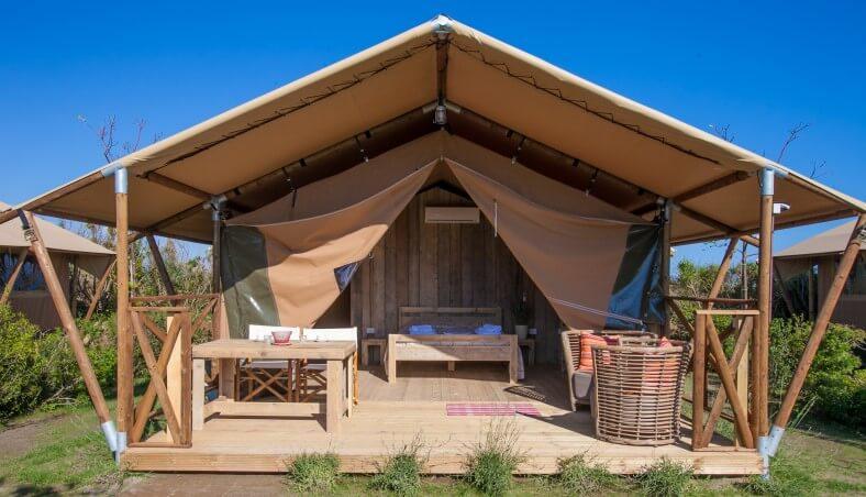 Safaritent van Glamping4all op Camping Capalbio