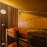Safaritent Slaapkamer Stapelbed van de 5 persoonstent op Camping Capalbio