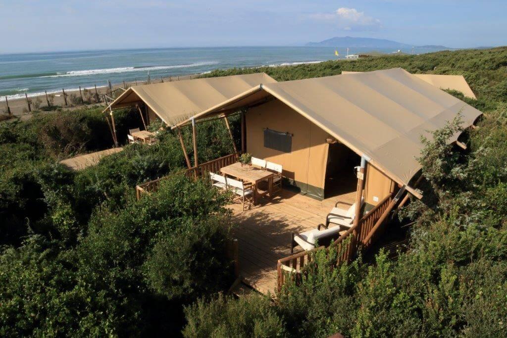 Safaritent 5 personen op Camping Capalbio
