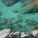 Springen in de zee bij l'Escala