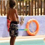 Kinderen bij Zwembad Punta Milà
