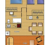 Plattegrond Exclusive lodge 5 pax Capalbio