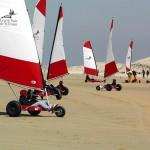 Les Pins kartsurfers op strand van Eiland d'Oleron