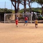 Cypsela Resort voetbalveld camping in Spanje