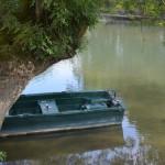 Rivier Loir met bootje