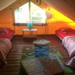 Vieux Moulin Safaritent Slaapkamer boven