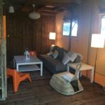 Vieux Moulin Safaritent woonkamer overzicht