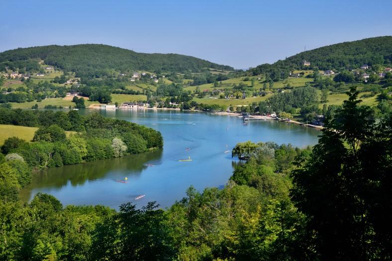 Dordogne Lac du Causse overzicht meer