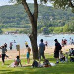 Dordogne Lac du Causse strand
