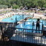 Blimouses zwembad met glijbaan