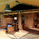 Luxury lodge tent terras