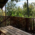 Les Blimouses safaritenten uitzicht