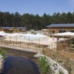 Soustons Village zwembad restaurant overzicht