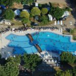 Vestar zwembad-luchtfoto