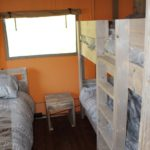 Lac du Causse Safaritent 5 persoons kinderslaapkamer
