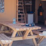 Safaritent picknick tafel