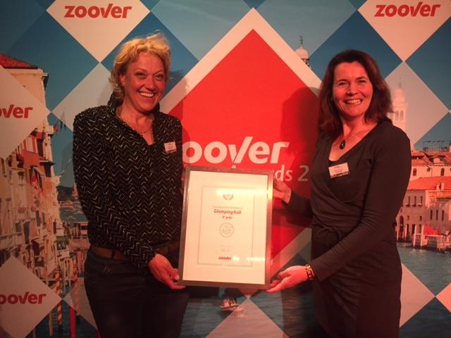 Glamping4all gewinnt den 3. Preis bei Zoover Awards für den besten Camping Holiday Provider
