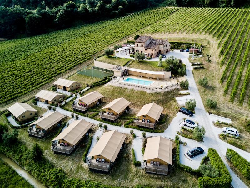 Villa La Diva vanuit de lucht