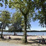 Het meer Gué de selle à Mézangers