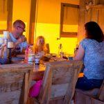 Villa La Diva Safaritent eettafel