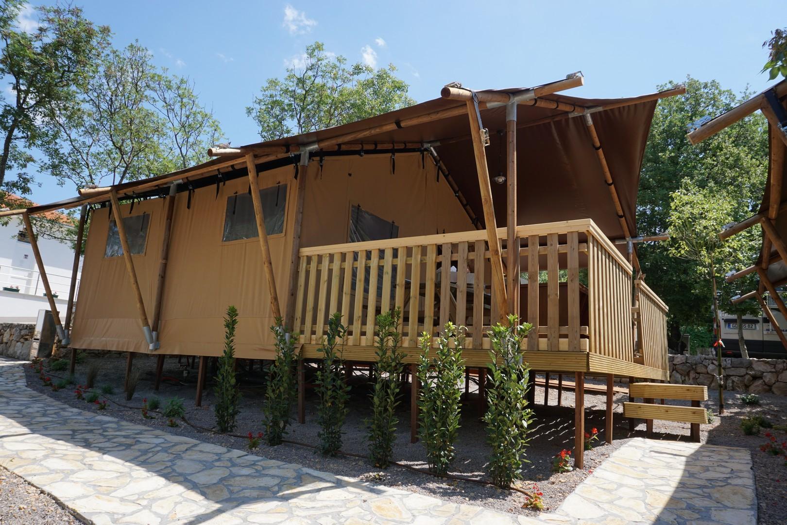 Camping Slamni - Safaritent 4 personen