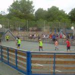 Vilanova Park animatie voetbal en basketbal veld
