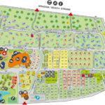 Plattegrond van camping Malibu Beach 2018 met alle plaatsen