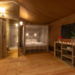 Desert Lodge woon en badkamer
