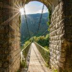 Gajole omgeving mooie hangbrug in de Dolomieten