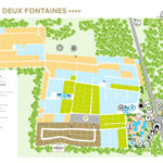 Plattegrond 2 Fontaines camping Bretagne