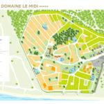 Plattegrond camping Domaine le Midi in de Vendee