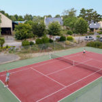 Tennisbaan camping les Deux Fontaines
