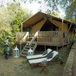 Glamping Resort Vallicella ruime lodge plek