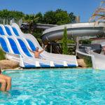 Zwembad les 2 Fontaines met glijbanen